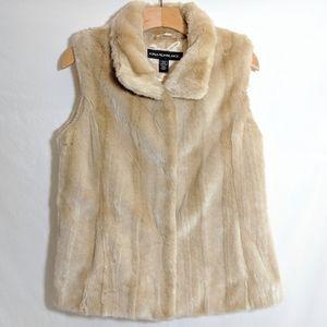 Kristen Blake Golden Faux Fur Vest